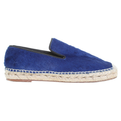 Céline Loafers in blue leather