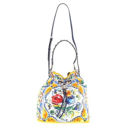 Dolce & Gabbana Beuteltasche mit Majolika-Print