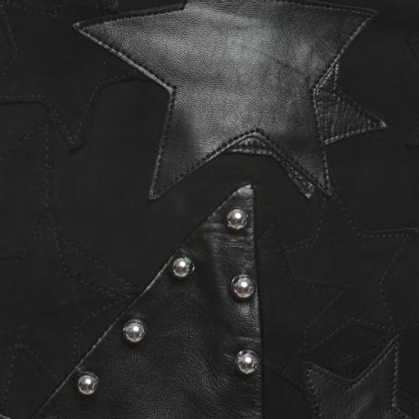 Anthony Vaccarello Minirock aus Leder Schwarz Rabatt Original Spielraum Heißen Verkauf VVAQbw6