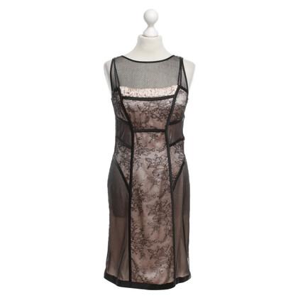 Marc Cain Kanten jurk in zwart / nude