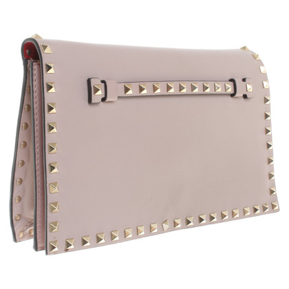 Valentino clutch con rivetto