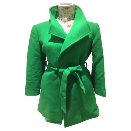 Piu & Piu Coat in poison green