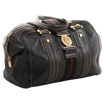 Gucci zwarte tas met handtekening singelband.