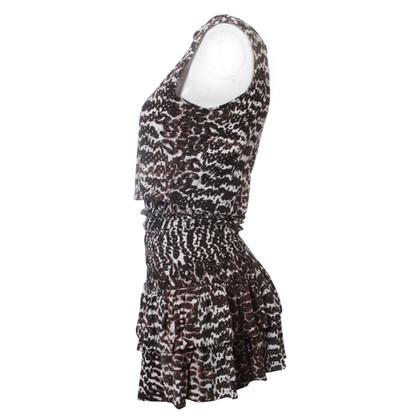 Maje Zwart-witte jurk
