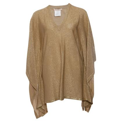 Michael Kors Poncho in maglia color oro