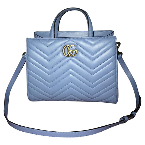 74d5c9d1f0 Gucci Tote bag Leather in Blue - Second Hand Gucci Tote bag Leather ...