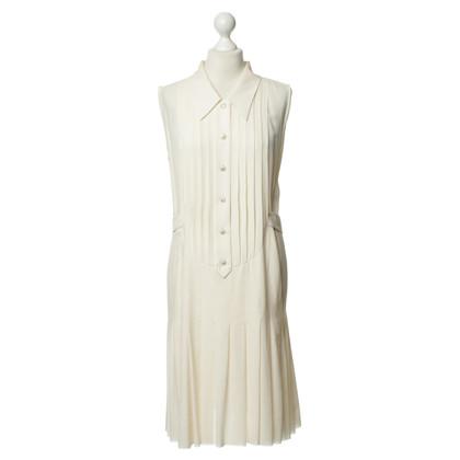 Chanel zijden jurk in crème