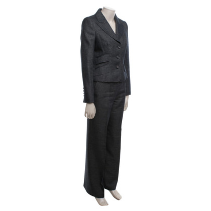 Escada Tailleur pantalone in screziato blu / grigio