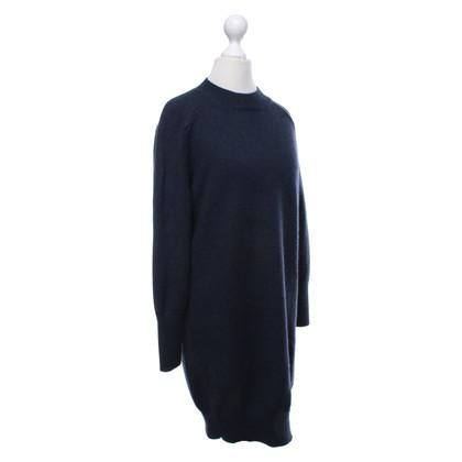 Cédric Charlier Gebreide jurk in donkerblauw