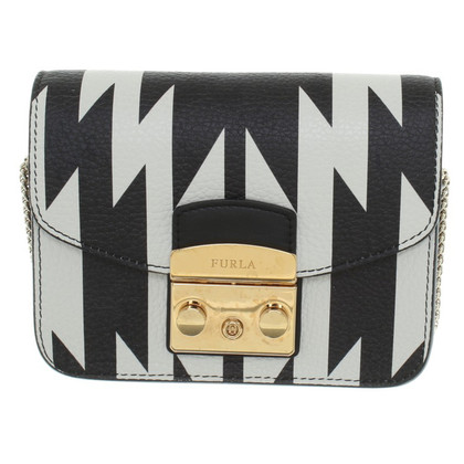 Furla Shoulder bag in black / white
