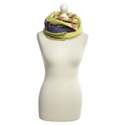 Etro lino sciarpa / seta