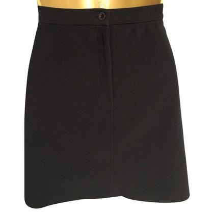 DKNY Black Finely Ribbed Mini Skirt