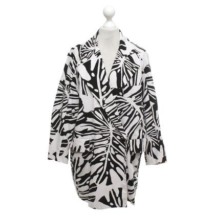 Diane von Furstenberg Oversized Mantel in Schwarz/Weiß