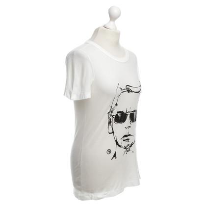 Karl Lagerfeld T-shirt in bianco