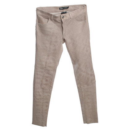 Arma Leather pants in beige