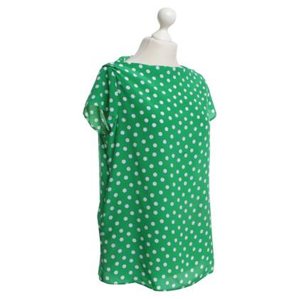 Miu Miu Camicetta con punti in verde