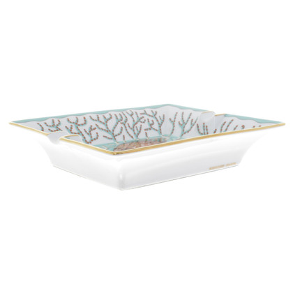 Hermès Ashtray with fish print