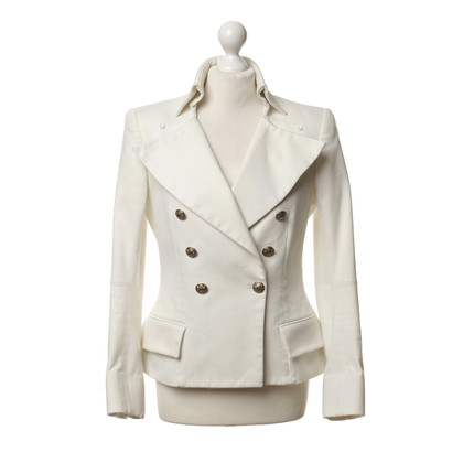 Balmain Blazer bianco con un aspetto uniforme