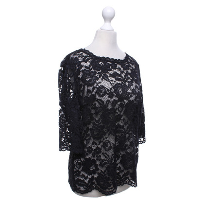 Set Top in pizzo nero