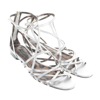 Dolce & Gabbana Silberfarbene Sandalen