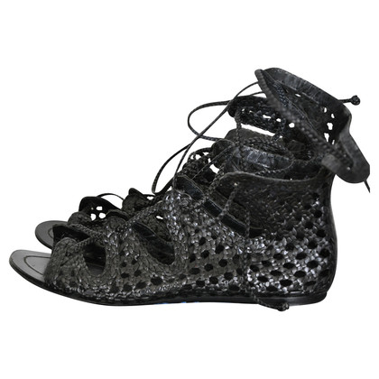 Sigerson Morrison Black leather sandals