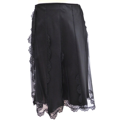 Christian Dior Tulle skirt with lace ruffles