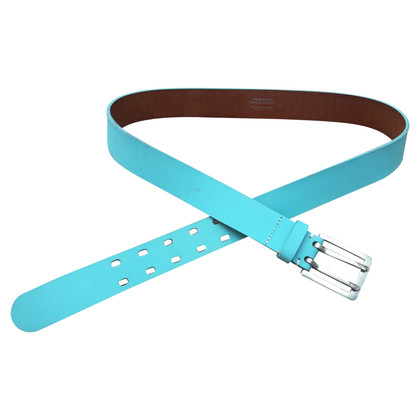 Paul Smith Leather belt in turquoise