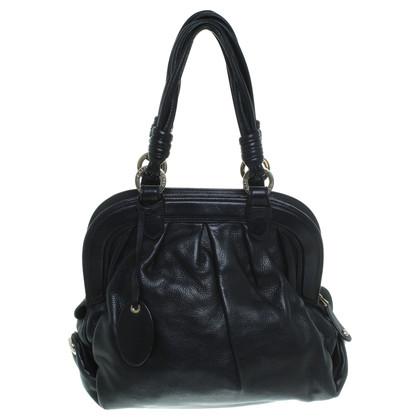 Bally Schwarze Lederhandtasche