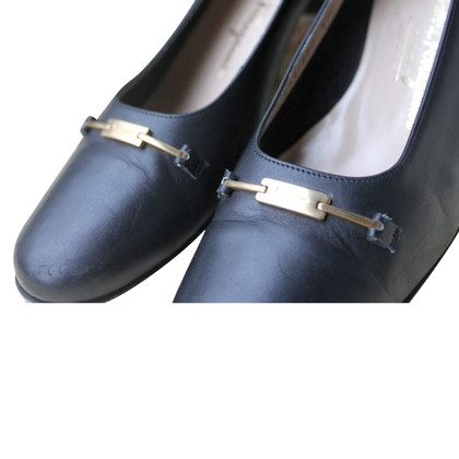 Salvatore Ferragamo Ballerina pumps, 9, mat zwart vintage