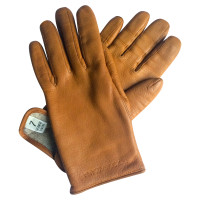 Dolce & Gabbana Leather gloves with cashmere lining