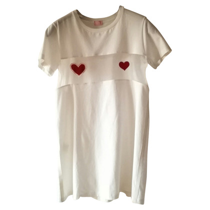 Giambattista Valli T-shirt met hartjesapplicatie