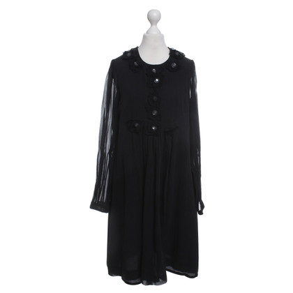 By Malene Birger Black silk dress with appliques