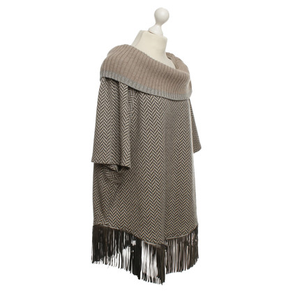 Airfield Poncho with fringe