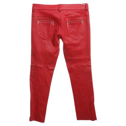 Isabel Marant Lederen broek met klinknagels