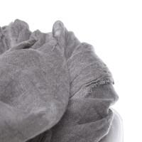 Faliero Sarti « Tissu Pashmina mixte gris »