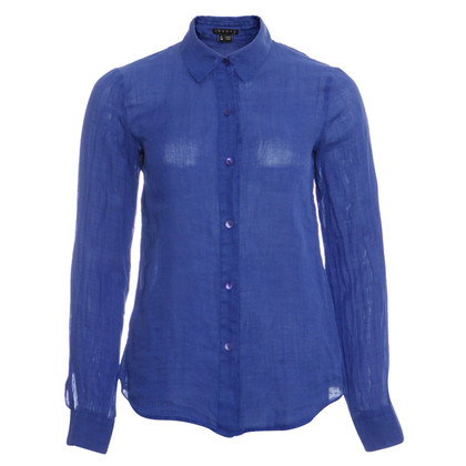 Theory Blue linen blouse