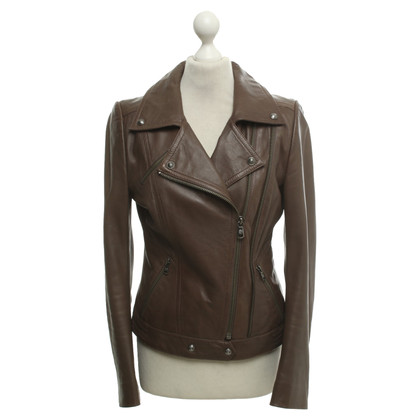 Drykorn Leather jacket in brown