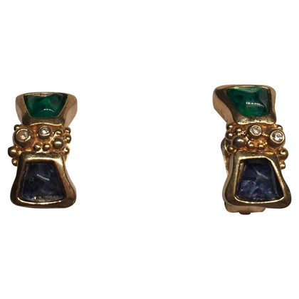 Christian Dior Ear clips with gemstones