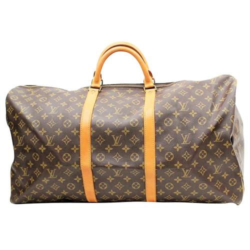 4b6f3b0cf707 Louis Vuitton Keepall 60 en Toile en Marron - Acheter Louis Vuitton ...