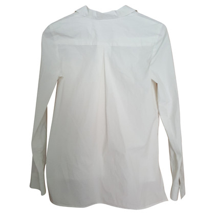 IQ Berlin White blouse with silver buttons