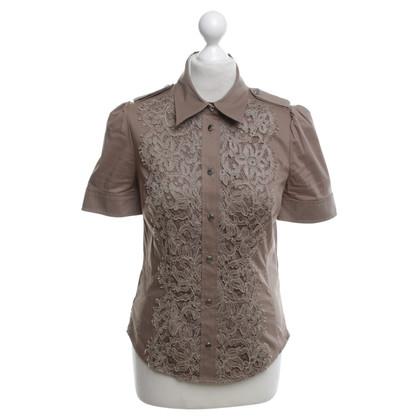 Karen Millen Blusenshirt in Khaki