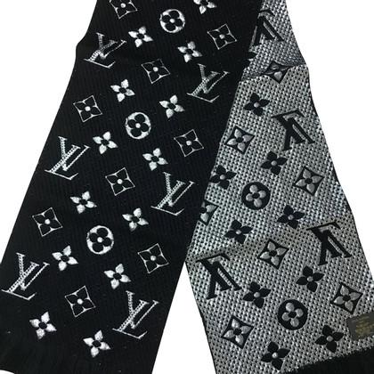 Louis Vuitton Logomania Shine scarf in black