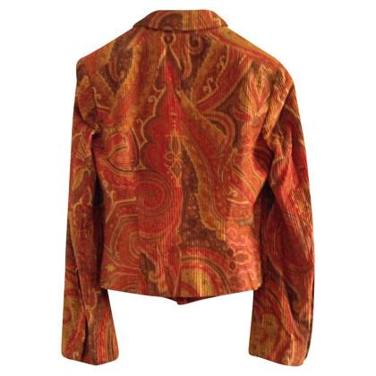 Etro Cord-Blazer mit Paisley-Muster