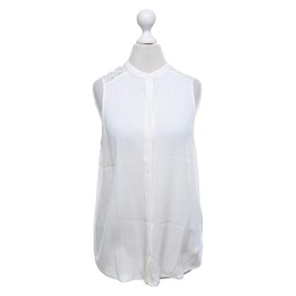 Michael Kors Mouwloze zijden blouse in crème