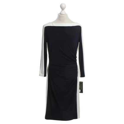 Ralph Lauren Two-toned dress with ruching