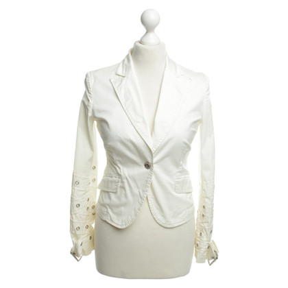 Moschino White Blazer jacket with belt