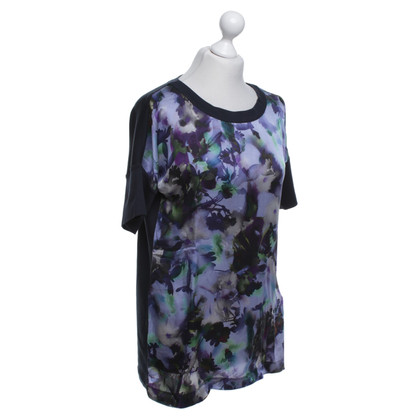Marc Cain Silk top with floral pattern