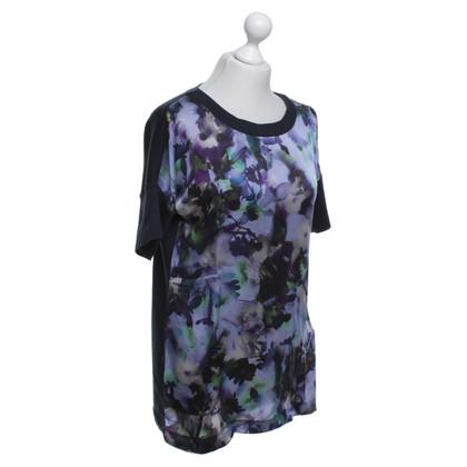 Marc Cain Top en soie avec motif floral