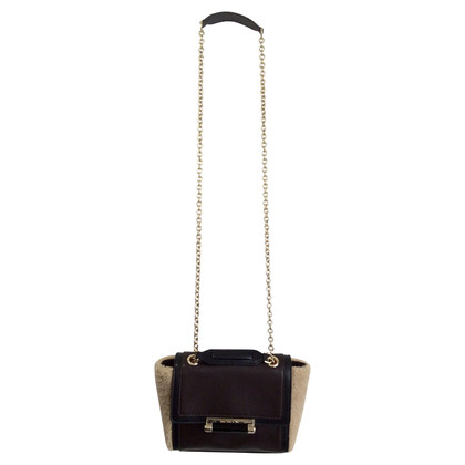 Diane von Furstenberg Chain bag with fur trim