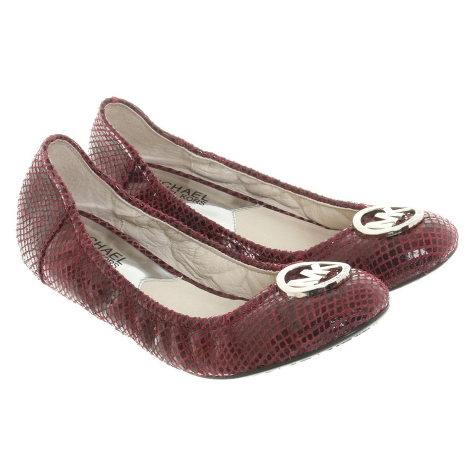 michael kors ballerinas in bordeaux buy second hand michael kors ballerinas in bordeaux for. Black Bedroom Furniture Sets. Home Design Ideas